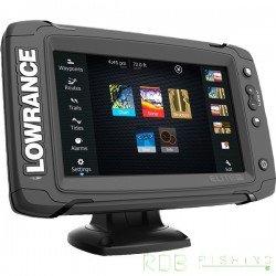 Combiné sondeur, traceur Lowrance Elite-7 TI TotalScan™