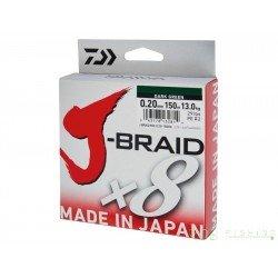 Tresse Daiwa J-BraidX8 150m dark green