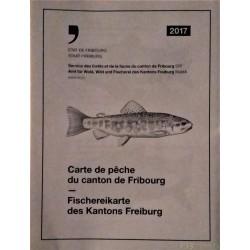 Carte topographique de pêche du canton de Fribourg