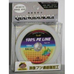 Tresse 4 brins 100% PE LINE