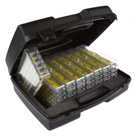 Valise avec 8 boîtes de 5 plioirs à gambes VERTIGONE
