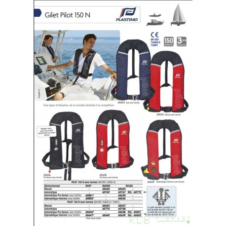 Gilet gonflable Plastimo Pilot 150 N