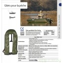 Gilet gonflable Plastimo Pilot pêche 150 N