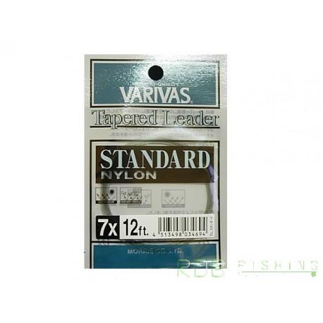Bas de ligne mouche VARIVAS standard nylon 12 ft. 7x