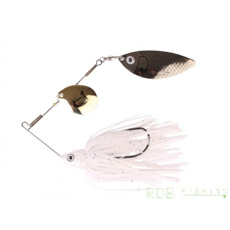 Spinnerbait Ti-Flex 10 cm 17 gr Savage Gear Holo White Gold Silver