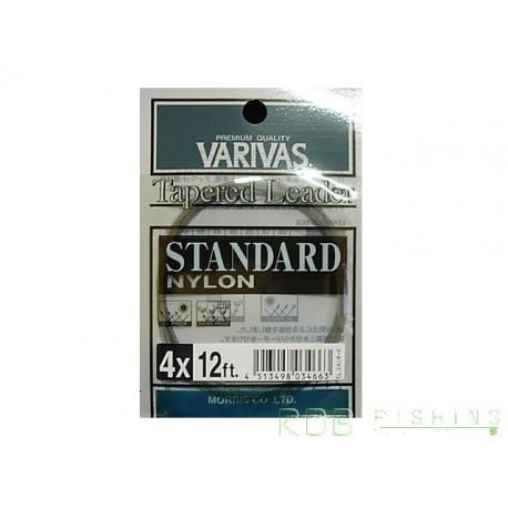 Bas de ligne mouche VARIVAS standard nylon 12 ft. 4x