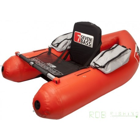 Float tube Seven Bass BRIGAD 160 coloris rouge