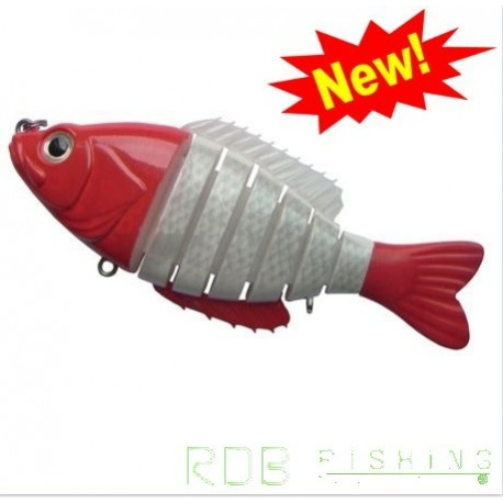 Segment Shad 6'' (15cm ) / 64gr / sinking coloris 311A RED WHITE
