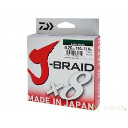 Tresse Daiwa J-BraidX8 150m dark green