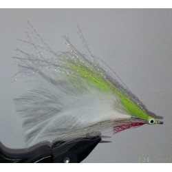 Streamer a brochet RDB Lefty's deceiver chartreuse et blanc