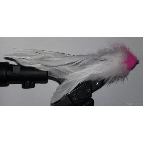 Streamer a brochet RDB JF 035 coloris rose-blanc
