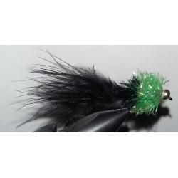 Streamer RDB Nomad marabout noir et fritz chartreuse
