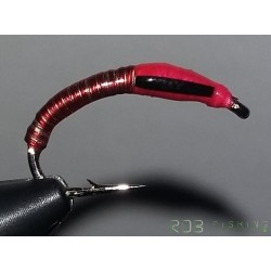 Nymphe RDB Chironome wire rouge et or tête rose