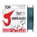 Tresse Daiwa J-BraidX8 150m multi color