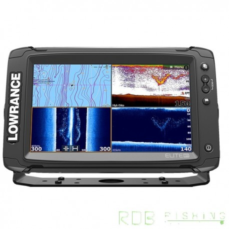 Combiné sondeur, traceur Lowrance Elite-9 TI avec sonde TotalScan™