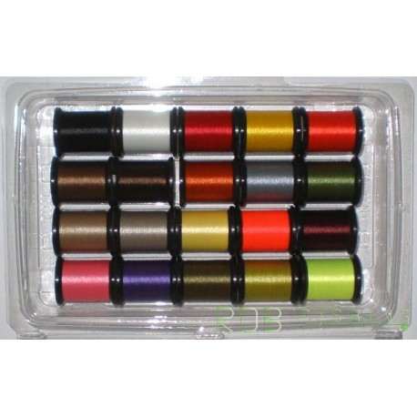 Fil de montage Uni 6/0 en assortiment de 20 coloris