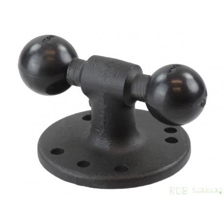 RAM® Adaptateur double boule avec base ronde