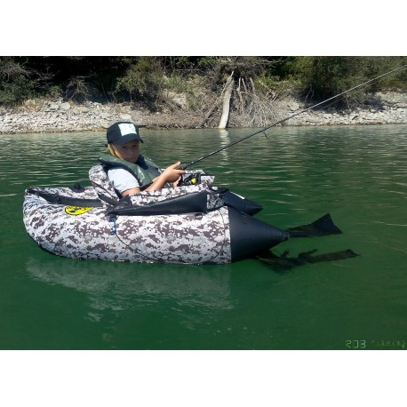 Pack d'occasion Float tube Seven Bass DEF désert, support de canne SQUAD4