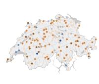 Débits et niveaux d'eau des lacs et cours d'eau Suisses