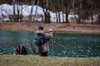 1 ère compétition de pêche à la mouche en réservoir pour Michel