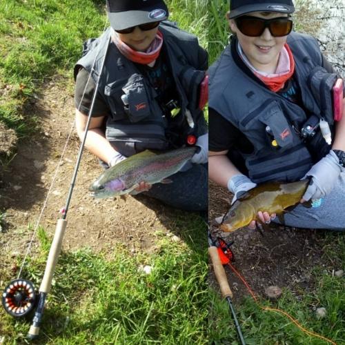 Pêche à la mouche au réservoir de la Base de Loisirs du Lac de la Moselotte part 2
